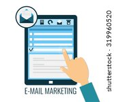e mail marketing concept.... | Shutterstock .eps vector #319960520
