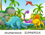 dinosaurs living in the jungle...