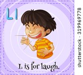 flashcard letter l is for laugh ...   Shutterstock .eps vector #319969778