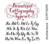 Hand drawn brush calligraphy vector ABC letters.Beautiful font for your design.