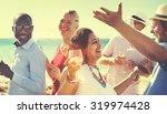 diverse people friends hanging...   Shutterstock . vector #319974428