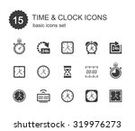 time and clock icons set. | Shutterstock .eps vector #319976273