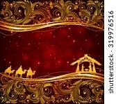 christian christmas scene with... | Shutterstock .eps vector #319976516