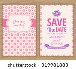 cute wedding invitation card  ... | Shutterstock .eps vector #319981883