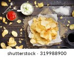 potato chips with dipping...   Shutterstock . vector #319988900