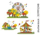 kids fun fair  vector elements | Shutterstock .eps vector #319991348