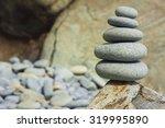 Five Sea Stones Balanced On Th...