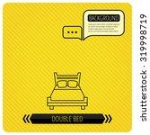 double bed icon. sleep symbol.... | Shutterstock .eps vector #319998719