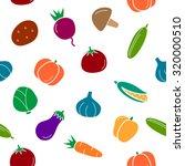 pattern vegetables  cucumber ... | Shutterstock .eps vector #320000510