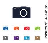 photo camera vector icon for... | Shutterstock .eps vector #320005304