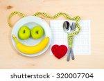 healthy diet. fresh fruit plate | Shutterstock . vector #320007704