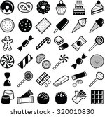sweets and candies icons...