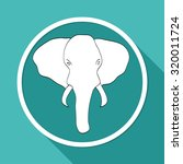 elephant icon | Shutterstock . vector #320011724