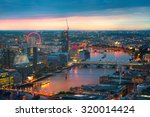 London At Sunset  Panoramic View