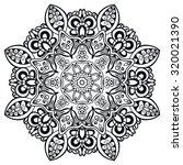 mandala geometric round... | Shutterstock .eps vector #320021390
