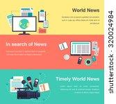 media objects. world news | Shutterstock . vector #320024984