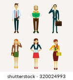 set of characters in a flat... | Shutterstock . vector #320024993
