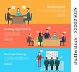 conference banner set with... | Shutterstock . vector #320025029