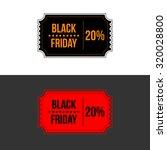 illustration of black friday... | Shutterstock . vector #320028800