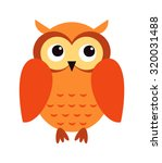 Cute Cartoon Owl In Flat Desig...