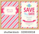 save the date. wedding... | Shutterstock .eps vector #320033018