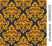 Orange Colored Floral Arabesque ...