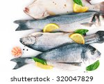 Fresh Fishes And Shrimps With...