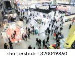 Small photo of Trade show view, generic background, intentionally blurred post production.