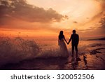 a just married couple staying... | Shutterstock . vector #320052506