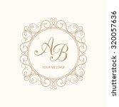 elegant monogram design... | Shutterstock .eps vector #320057636