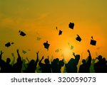 group of diverse students... | Shutterstock . vector #320059073