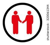 handshake vector icon. this... | Shutterstock .eps vector #320061344