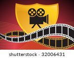video camera film background | Shutterstock .eps vector #32006431