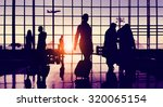back lit business people... | Shutterstock . vector #320065154