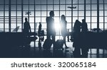 back lit business people... | Shutterstock . vector #320065184