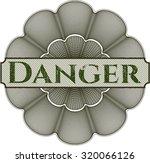 danger rosette | Shutterstock .eps vector #320066126