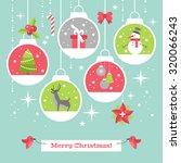 Modern Christmas Card Flat...