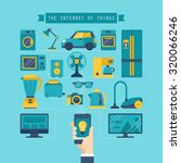 internet of things concept with ... | Shutterstock .eps vector #320066246