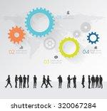 modern infographic for business ... | Shutterstock .eps vector #320067284