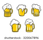 glass pint tankards of frothy... | Shutterstock . vector #320067896