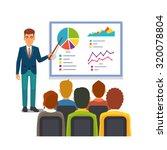 businessman in suit and tie... | Shutterstock .eps vector #320078804