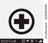 medical cross icon | Shutterstock . vector #320084408