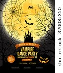 halloween party. vector... | Shutterstock .eps vector #320085350