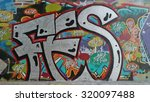 Graffiti Wall In Amsterdam The...