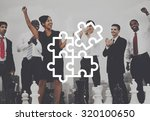 jigsaw puzzle partnership... | Shutterstock . vector #320100650