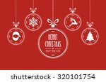 christmas ball red background | Shutterstock .eps vector #320101754