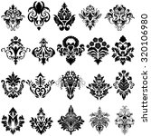 set of emblem in damask style... | Shutterstock .eps vector #320106980