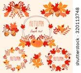set round frame of autumn...   Shutterstock .eps vector #320113748
