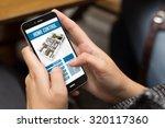 smart home concept  girl using... | Shutterstock . vector #320117360