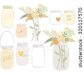 vintage wedding flowers with... | Shutterstock .eps vector #320117570